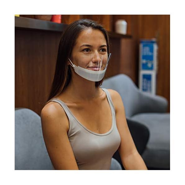 Urhome-5-x-Schutzvisier-in-Wei-fr-Erwachsene-Gesichtsvisier-fr-Nase-und-Mund-Visier-zum-Schutz-vor-Flssigkeiten-Face-Shield-aus-Kunststoff