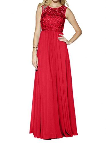 Partykleider Royal Rot linie Chiffon Pailletten Charmant Langes Blau Brautmutterkleider A Rock Damen Abendkleider B5qAn0wZx