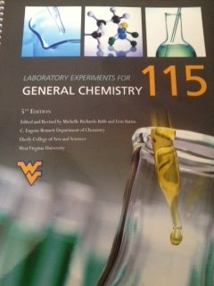 Laboratory Experiments for General Chemistry 115 (Custom Edition for West Virginia University)