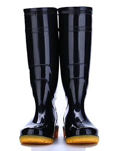 Ein bißchen Dick Sohle Herren Mode Langschaft Beliebt Rutschfest Gumistiefel Herren Schwarz