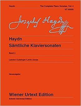 Complete Piano Sonatas Vol 4 Vol 4 (Wiener Urtext)