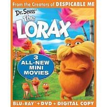 Lorax 3D + 2D + DVD + DC + UV with 3 New Movies and Wearable Lorax mustache! Boxed Set