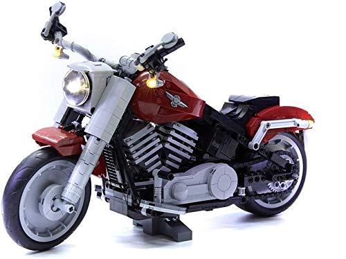 벽돌 전리품 디럭스 LED 라이트 키트 레고 할리 데이비슨 팻 보이 오토바이 세트 10269(레고 세트 포함되지 않음)