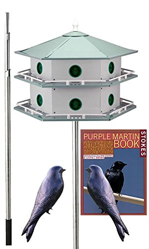 - BestNest Heath 12-Room Deluxe Purple Martin House Package