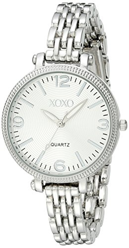 XOXO Womens XO5753 Silver-Tone Bracelet Watch