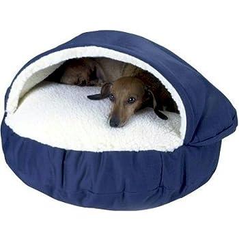 Amazon.com : Snoozer Cozy Cave, Khaki, Large : Pet Beds
