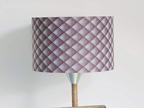 abat-jour losanges géométriques marron dégradé Luminaire art ...