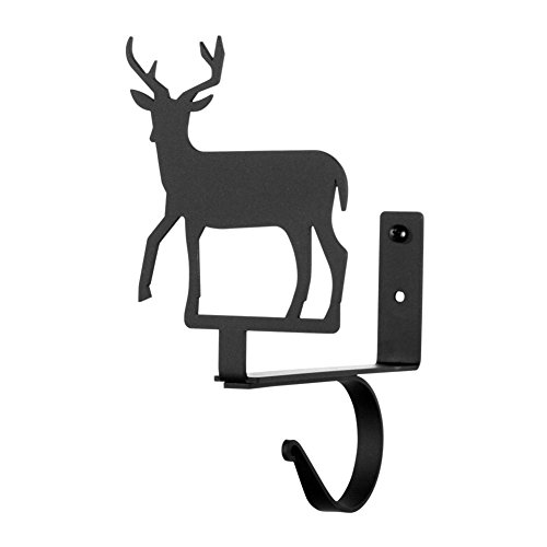 Iron Deer Curtain Shelf Brackets -Set of 2-Heavy Duty Met...