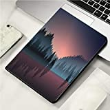 "Case for iPad Mini 1/2/3 Case Auto Sleep/Wake up Smart Cover for iPad 7.9"" Case Lakeview and Pine Wood at Dusk"