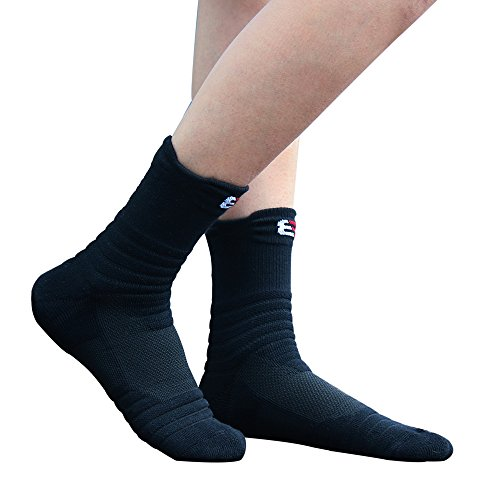 Pelisy Compression Mens Athletic Crew Socks 6 Packs For Basketball & Running