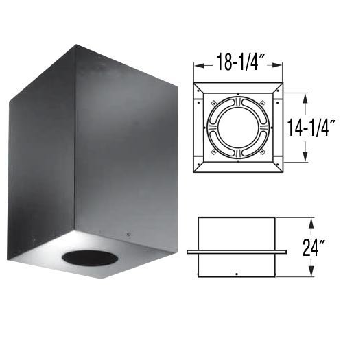 Chimney 69880 8 in. Dura-Vent Dura-plus Cathedral Ceiling Support- Galvalume Painted Black- Trim Collar Included (Dura Vent Trim)