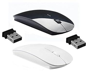 ReTrack 2.4Ghz Ultra Slim Wireless Optical Mouse Set of 1/2/3  2PC White + Black, White + Black