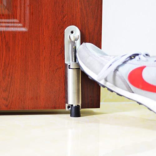 FidgetGear Luxury Stainless Steel Telescopic Door Stopper Spring Loaded Step On Door Holder by FidgetGear (Image #1)