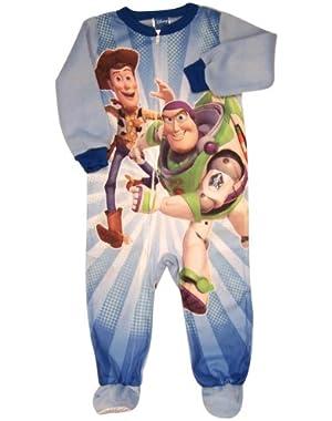 Blue Toy Story Blanket Sleeper (Size 18M) - Infant Pajamas