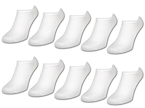 sockenkauf24 10 bis 50 Paar Sneaker Socken Damen & Herren Schwarz & Weiß Baumwolle