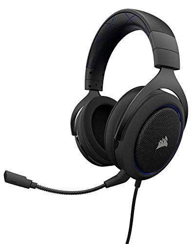 - CORSAIR HS50 - Stereo Gaming Headset - Discord Certified Headphones - Designed to Work with Playstation 4 (PS4) - Blue