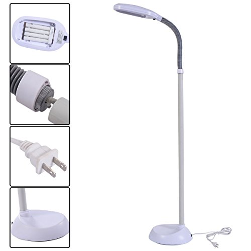 MasterPanel - White 5Ft Tall Deluxe Sunlight Floor Lamp Natural Reading Light Home Furniture #TP3400 (Lamp United Manchester Bedroom)