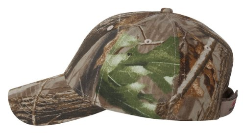Kati Licensed Twill Camo Velcro Cap, Realtree Hardwood HD Green, Adjustable
