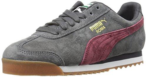 (PUMA Unisex Roma Gents JR Sneaker, Asphalt-Cordovan, 4 M US Big Kid)