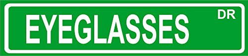 "Novelty EYEGLASSES street sign 4""x18"" aluminum wall art décor"