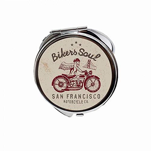 Huayuanhurug Bikers Soul San Francisco Emblem with Skull Wings Riding Motorcycle Dead -