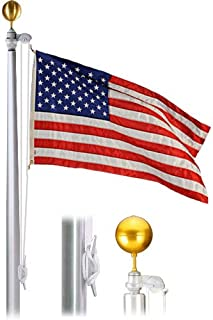 """product image for Economy Extra 35 Foot 6""""X3-1/2""""X.156"""" Satin Finish Flagpole"""