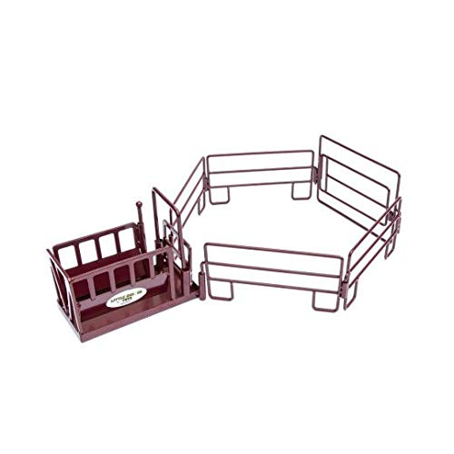 (Little Buster Toys Toys Red Cattle Squeeze Chute Play Set)