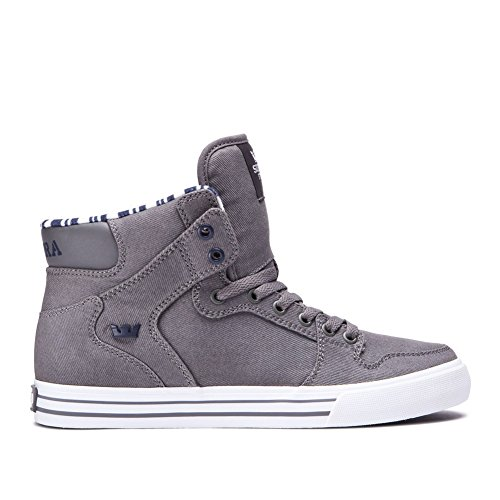 Supra Vaider Skate Schuh Grau weiß