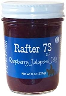 product image for Rafter 7S Raspberry Jalapeno 8 oz Jelly - Gluten Free - No Preservatives - No Corn Syrup - Made with Fresh Nebraska Fruit