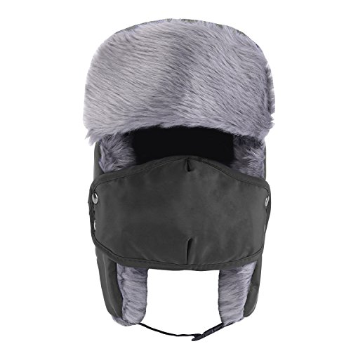 96e4517787b Prooral Unisex Winter Trooper Trapper Hat Hunting Hat Ushanka Ear Flap Chin  Strap and Windproof Mask