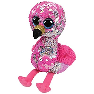 Ty Flippables 36267 - Pinky The Flamingo Sequin Soft Toy: Toys & Games