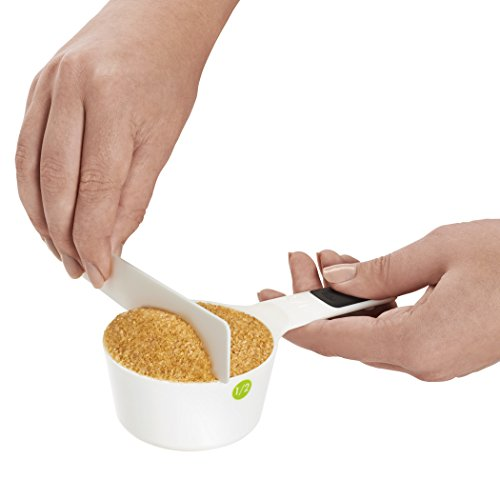 OXO Good Grips Plastic Measuring Cups, 6-Piece, White,1EA