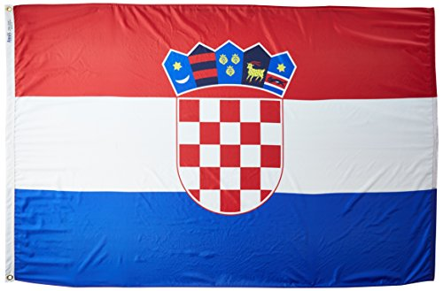 - Annin Flagmakers Model 191839 Croatia Flag 4x6 ft. Nylon SolarGuard Nyl-Glo 100% Made in USA to Official United Nations Design Specifications.