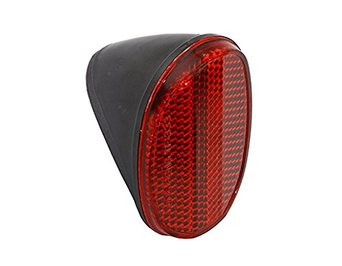 Lowrider Oval RED Rear Fender Reflector. Bike Part, Bicycle Part, Bike Accessory, Bicycle Accessory