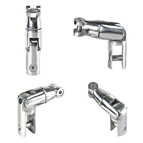 Amarine Made AISI 316 Stainless Steel Marine Boat Anchor Double Swivel Connector for 3/8