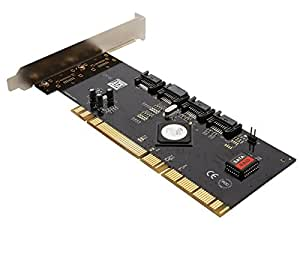 Syba - Controlador PCI-RAID (4 puertos SATA-I/II, PCI-X, chipset SiL3124 de SiliconImage)
