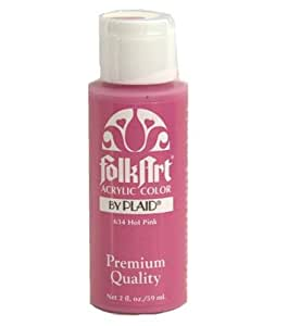 FolkArt Acrylic Paint (2 Ounce), 634 Hot Pink