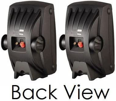 Set of 2 1 PEI Dome Tweeter /& Wide Frequency Response Yamaha All Weather Indoor /& Outdoor Wall Mountable Natural Sound 130 watt 2-way Acoustic Suspension Speakers Com Black with 6.5 High Compliance Woofer Compatible with All Audio // Video Receivers