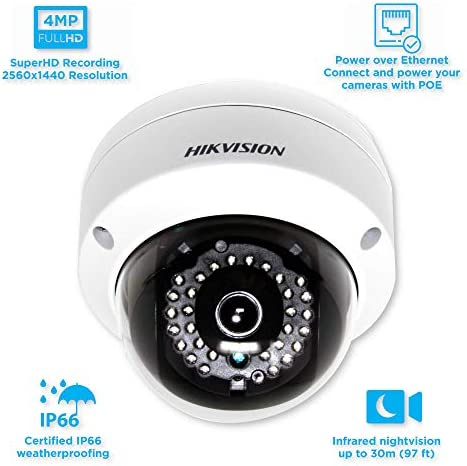 Hikvision 4MP WDR PoE Network Dome Camera – DS-2CD2142FWD-I 4mm