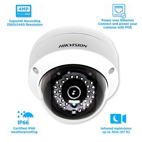 Hikvision 4MP WDR PoE Network Dome Camera - DS-2CD2142FWD-I 4mm
