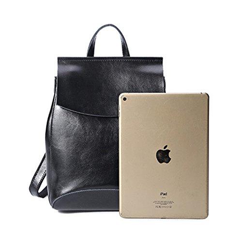 Anne - Bolso mochila  de Piel para mujer negro negro negro