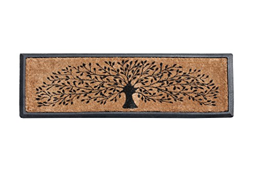 First Impressions Hand-Crafted Rubber Coir Tree Double Door Mat