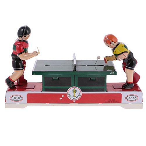 Plate Wind Vintage Collectable - Jili Online Vintage Windup Ping Pong Match Souvenir Clockwork Collectable Tinplate Toys