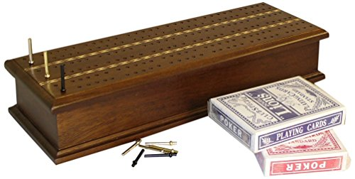 Cribbage Box (Inlaid Cribbage Box with Cards)