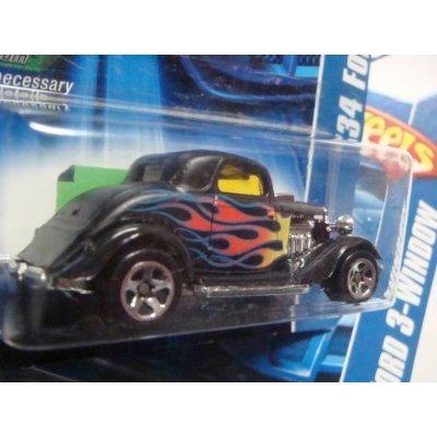 Hot Wheels '34 Ford 3-Window #190 '06 Black 5 Spoke With Fla
