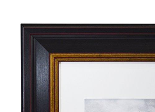 Golden State Art 11x14 Black Photo Frame With Burgundy