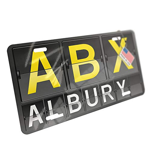 NEONBLOND ABX Airport Code for Albury Aluminum License Plate
