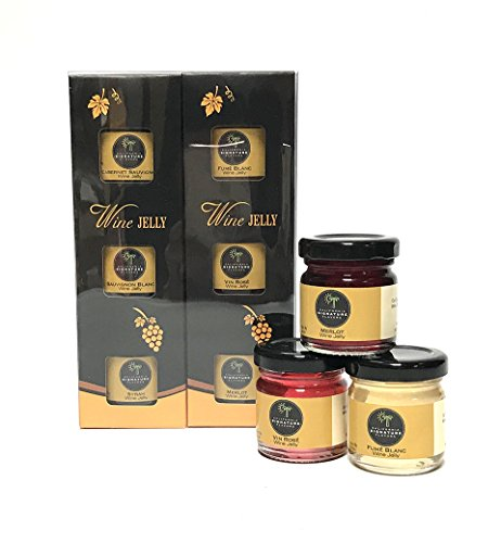 California Chardonnay Wine - California Signature Flavors Wine Jelly - Santa Rosa Gift Set 6 x 1.5oz