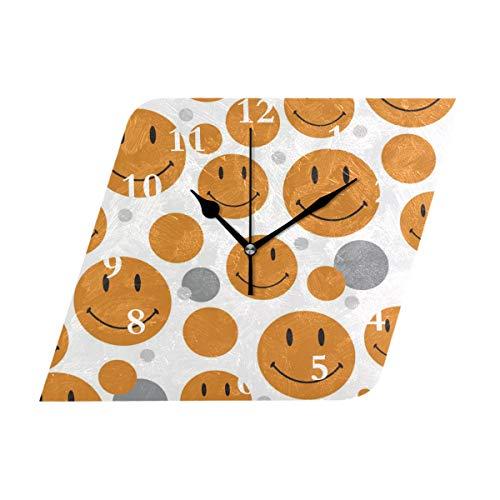 HangWang Wall Clock Pattern Smiley Face Silent Non