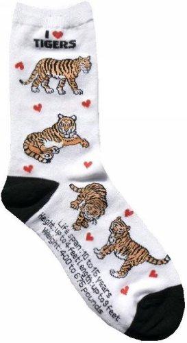 I Love Tigers Women Socks Cotton New Gift Fun Unique Fashion